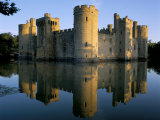 Bodiam Castle Reflected in Moat, Bodiam, East Sussex, England, United Kingdom Photographic Print by Ruth Tomlinson