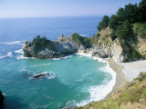 Spectacular Coastline with Waterfall, Julia Pfeiffer Burns State Park, Big Sur, USA Photographic Print by Ruth Tomlinson