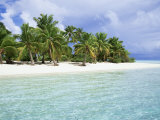 Paradise Beach, One Foot Island, Aitutaki, Cook Islands, South Pacific Islands Photographic Print by D H Webster