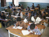 Classroom Full of Children Studying, Teferi Ber, Ethiopia, Africa Photographic Print by D H Webster