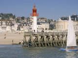 Lighthouse and Pier, Trouville, Basse Normandie (Normandy), France Photographic Print by Guy Thouvenin
