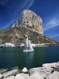 The Penyal d'Ifach Towering Above the Harbour, Calpe, Costa Blanca, Valencia Region, Spain Photographic Print by Ruth Tomlinson
