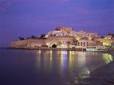 The Citadel by Night, Peniscola, Costa Del Azahar, Valencia, Spain, Mediterranean Papier Photo par Ruth Tomlinson