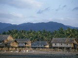 Houses on Stilts, Riung, Island of Flores, Indonesia, Southeast Asia Photographic Print by Jane Sweeney