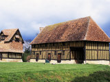 Farm Dating from the 15th Century, and Dovecot, Crevecoeur Manor, Auge, Basse Normandie, France Photographic Print by Guy Thouvenin