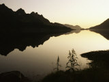 Midnight Sun and Calm Reflections, Lofoten Islands, Arctic, Norway, Scandinavia Photographic Print by D H Webster