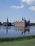 Schloss Frederiksborg in Hillero Town, on Lake Esrum, Denmark, Scandinavia Photographic Print by Adina Tovy