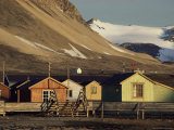 Amundsen's Base, Scientific Base, Once a Coal Mine, Ny Alesund, Svalbard, Arctic, Norway Photographic Print by Julia Thorne