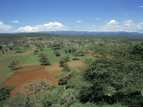 Area Deforested and Cleared for Intense Farming, Lake Langano, Ethiopia, Africa Photographic Print by D H Webster