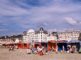 Beach Tents on the Beach, Trouville, Basse Normandie (Normandy), France Photographic Print by Guy Thouvenin
