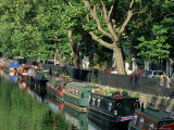 Canal and Houseboats, Little Venice, London, England, United Kingdom Photographic Print by Julia Thorne