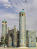 White Pigeons Fly Around the Shrine of Hazrat Ali, Mazar-I-Sharif, Afghanistan Photographic Print by Jane Sweeney