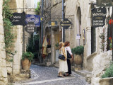 Window Shopping in Medieval Village Street, St. Paul De Vence, Alpes-Maritimes, Provence, France Photographic Print by Ruth Tomlinson