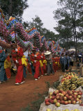 Gathering of Minority Groups from Yunnan for Torch Festival, Yuannan, China Photographic Print by Doug Traverso