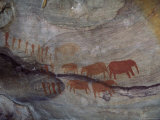 Rock Paintings, Matopo Park, Zimbabwe, Africa Photographie par I Vanderharst