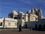The Shree Swaminarayan Mandir Temple, Neasden, London, England, United Kingdom Photographic Print by Adina Tovy