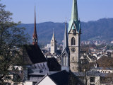 General View from University, Zurich, Switzerland Photographic Print by Guy Thouvenin