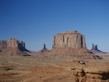 Navajo Lands, Arid Landscape with Eroded Rock Formations, Monument Valley, USA Photographic Print by Adina Tovy