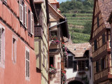 Main Street with Old Houses, Kayserberg, Alsace, France Photographic Print by Guy Thouvenin
