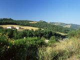 View Over the Orcia Valley to Castiglione d'Orcia, Bagno Vignoni, Tuscany, Italy Photographic Print by Ruth Tomlinson