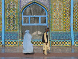Pilgrims at the Shrine of Hazrat Ali, Who was Assassinated in 661, Mazar-I-Sharif, Afghanistan Photographic Print by Jane Sweeney