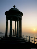 Silhouette of Marble Mirador at Sunset, Son Marroig, Near Deya, Balearic Islands Photographic Print by Ruth Tomlinson