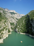 Small Boat on the River Verdon in the Grand Canyon of the Verdon, Provence, France Photographic Print by Ruth Tomlinson