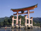 The Great Torii from the Corridor of Itsukushima Shrine, Akino, Miya-Jima, Japan Photographic Print by Adina Tovy