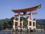 The Great Torii from the Corridor of Itsukushima Shrine, Akino, Miya-Jima, Japan Photographic Print by Adina Tovy