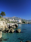 View Along Rock Coast to Town and Mountains, Nerja, Malaga, Andalucia, Spain, Mediterranean Photographic Print by Ruth Tomlinson