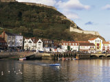 Harbour, with Castle on Hill Above, Scarborough, Yorkshire, England, United Kingdom Photographic Print by Adina Tovy