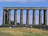 National Monument, Calton Hill, Edinburgh, Lothian, Scotland, United Kingdom Photographic Print by Guy Thouvenin