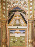 Fine Wall Painting, the City Palace, Jaipur, Rajasthan State, India Photographic Print by John Henry Claude Wilson