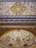 Painted Ceiling Detail, Mehrangarh Fort, Jodhpur, Rajasthan State, India Photographic Print by John Henry Claude Wilson