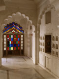Original Old Stained Glass Windows and Traditional Niches Let into the Walls, Jodhpur, India Photographic Print by John Henry Claude Wilson