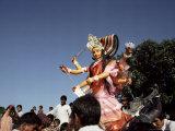 Durga Puja Festival, Varanasi (Benares), Uttar Pradesh State, India Photographic Print by John Henry Claude Wilson