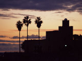 Castle Bil Bil Museum in Silhouette at Sunset, Benalmadena, Costa Del Sol, Andalucia, Spain Photographic Print by Tom Teegan