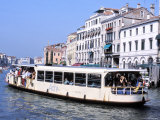 Vaporetto, Grand Canal, Venice, Veneto, Italy Photographic Print by Guy Thouvenin