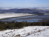 View of Lakeland Fells and Kent Estuary from Arnside Knott in Snow, Cumbria, England Photographic Print by Steve & Ann Toon