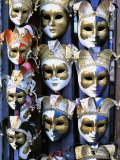 Carnival Masks, Venice, Veneto, Italy Photographic Print by Guy Thouvenin