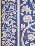 Abstract or Stylized Floral Motif, Chalk Blue and White Painted Mahal, the City Palace Photographic Print by John Henry Claude Wilson
