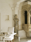 Main Dining Room Area in the Devi Garh Fort Palace Hotel, Near Udaipur, Rajasthan State, India Photographic Print by John Henry Claude Wilson