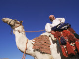 Bedouin Riding Camel, Sinai, Egypt, North Africa, Africa Photographic Print by Nico Tondini