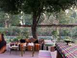 Al Fresco Lunch, Artist's House in Jaipur, Rajasthan State, India Fotoprint van John Henry Claude Wilson