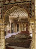 The Audience Hall, the City Palace, Jaipur, Rajasthan State, India Photographic Print by John Henry Claude Wilson