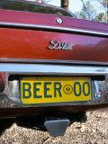 Car Registration Plate Beer, South Australia, Australia Photographic Print by Steve & Ann Toon