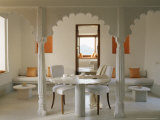 Sitting and Dining Area in One of the Guest Bedrooms, Devi Garh Fort Palace Hotel, Devi Garh Photographic Print by John Henry Claude Wilson