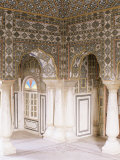 The Sheesh Mahal (Mirrored Hall) (Hall of Mirrors), the City Palace, Jaipur, Rajasthan State, India Photographic Print by John Henry Claude Wilson