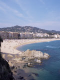 View of Resort Looking North, Lloret Del Mar, Costa Brava, Catalonia, Spain, Mediterranean Photographic Print by Tom Teegan