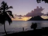 Sunset, Morne Larcher, Baie De La Chery (Chery Bay), Martinique Photographic Print by Guy Thouvenin